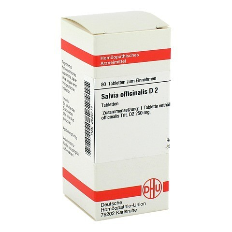 SALVIA OFFICINALIS D 2 Tabletten 80 Stück N1