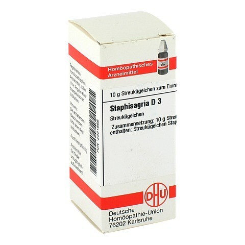 STAPHISAGRIA D 3 Globuli 10 Gramm N1
