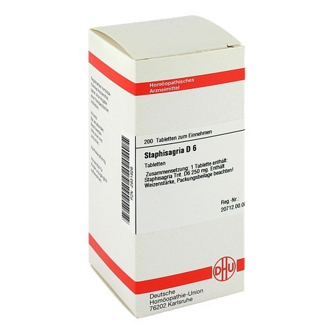 STAPHISAGRIA D 6 Tabletten 200 Stück N2