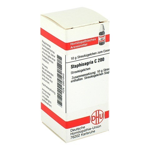 STAPHISAGRIA C 200 Globuli 10 Gramm N1