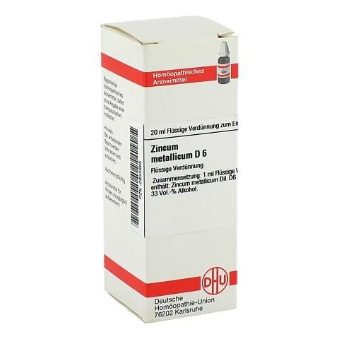 ZINCUM METALLICUM D 6 Dilution 20 Milliliter N1