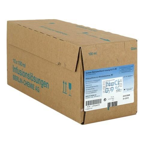 ISOTONE NaCl Lösung 0,9% BC Glasfl.Inj.-Lösung 10x100 Milliliter N2