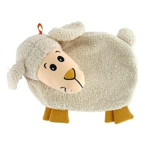 FASHY Wärmflasche Kuschelbezug Lamm flacher Kopf 1 Stück