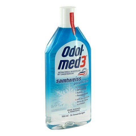 ODOL MED 3 Samtweiß polarfrisch Lösung 500 Milliliter