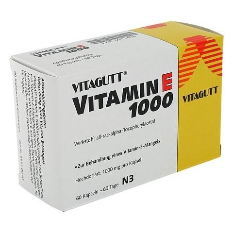 VITAGUTT Vitamin E 1000 Weichkapseln 60 Stück