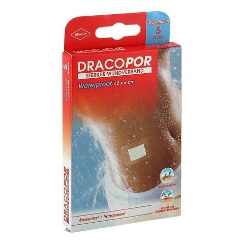 DRACOPOR waterproof Wundverband 5x7,2 cm steril 5 Stück