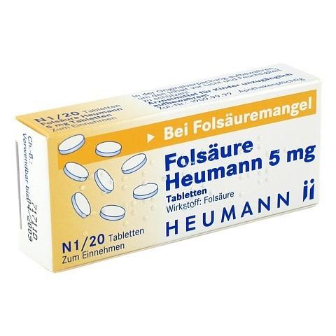 FOLSÄURE HEUMANN 5 mg Tabletten 20 Stück N1