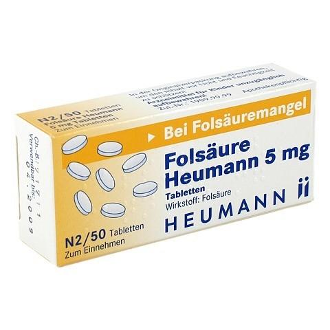 FOLSÄURE HEUMANN 5 mg Tabletten 50 Stück N2