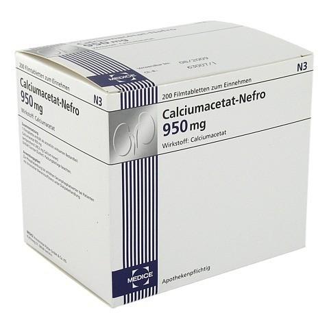 Calciumacetat Nefro 950 mg Filmtabletten 200 Stück N3
