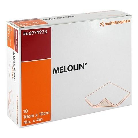 MELOLIN 10x10 cm Wundauflagen steril 10 Stück