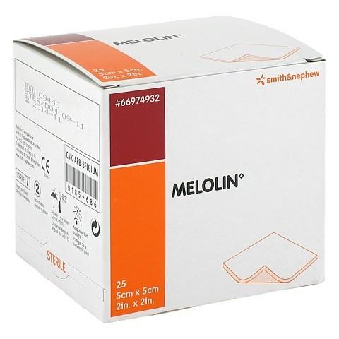 MELOLIN 5x5 cm Wundauflagen steril 25 Stück