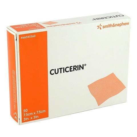 CUTICERIN 7,5x7,5 cm Gaze m.Salbenbeschichtung 50 Stück