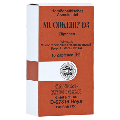 MUCOKEHL Suppositorien D 3 10 Stück N1