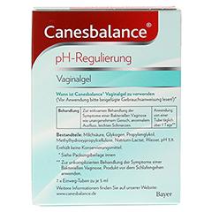 CANESBALANCE pH-Regulierung Vaginalgel 7x5 Milliliter - Rückseite