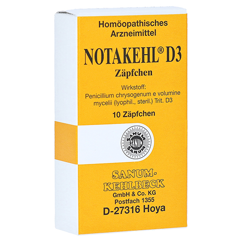 NOTAKEHL D 3 Suppositorien 10 Stück N1