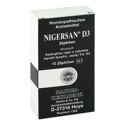NIGERSAN D 3 Suppositorien 10 Stück N1