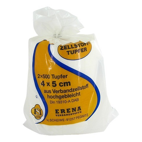 ERENA Zellstofftupfer 4x5 2x500 Stück