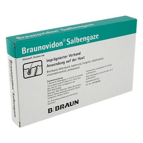 BRAUNOVIDON Salbengaze 7,5x10 cm 10 Stück N2