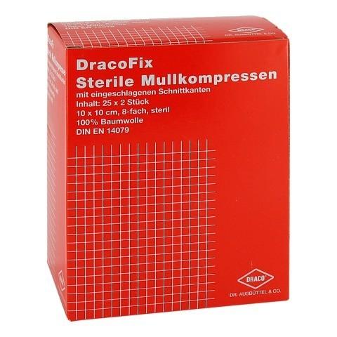 DRACOFIX PEEL Kompressen 10x10 cm steril 8fach 25x2 Stück