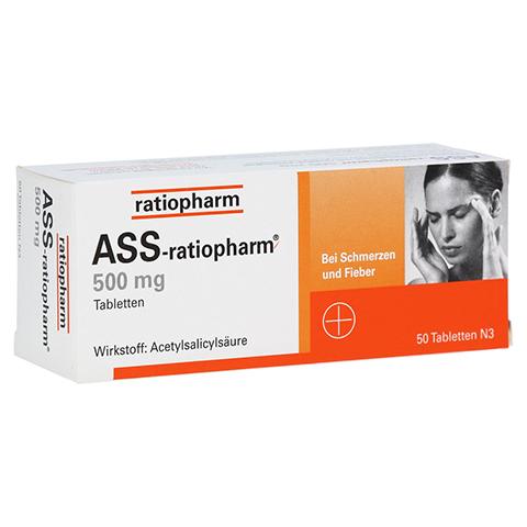 ASS-ratiopharm 500mg 50 Stück N3