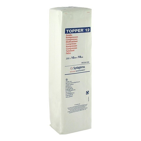 TOPPER 12 Kompr.10x10 cm unsteril 200 Stück