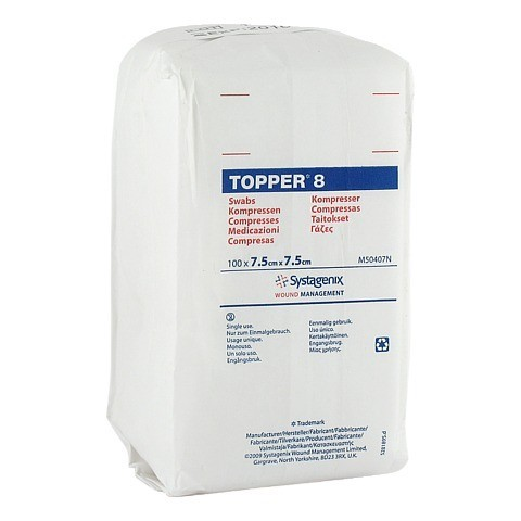 TOPPER 8 Kompr.7,5x7,5 cm unsteril 100 Stück