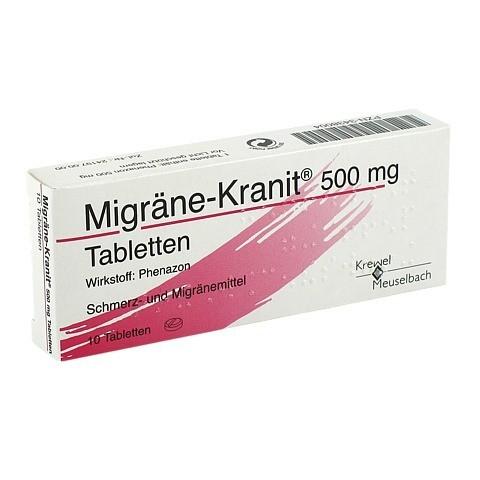 Migräne-Kranit 500mg 10 Stück