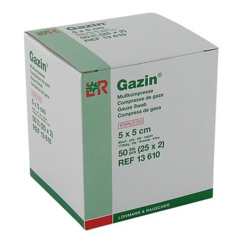 GAZIN Mullkomp.5x5 cm steril 8fach 25x2 Stück
