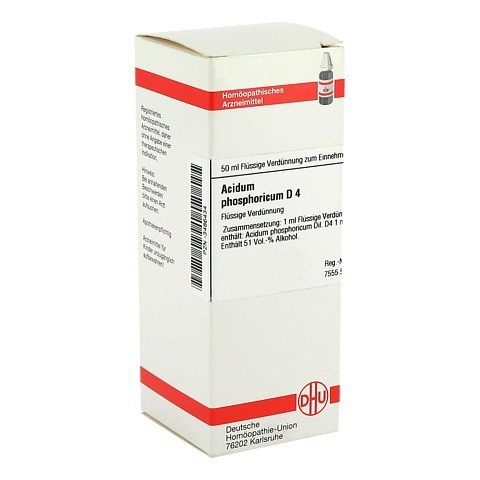 ACIDUM PHOSPHORICUM D 4 Dilution 50 Milliliter N1