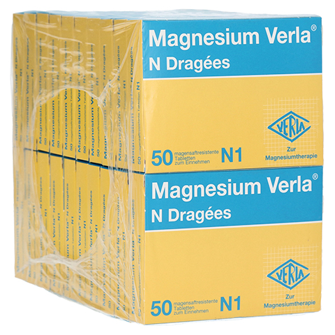 MAGNESIUM VERLA N Dragees 20x50 Stück