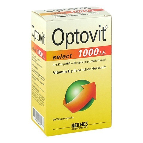 OPTOVIT select 1.000 I.E. Kapseln 50 Stück