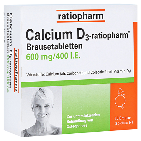 Calcium D3-ratiopharm 600mg/400I.E. 20 Stück N1