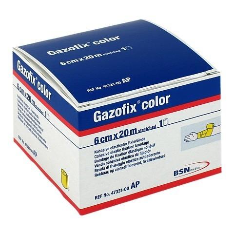 GAZOFIX color Fixierbinde 6 cmx20 m gelb 1 Stück