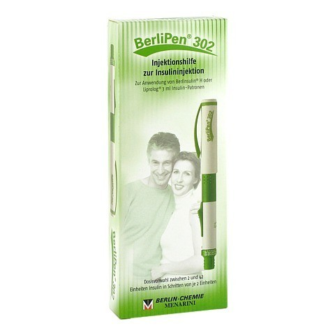 BERLIPEN 302 f.3 ml Patrone grün 1 Stück