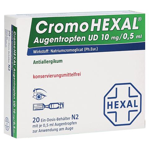 CromoHEXAL Augentropfen UD 20 Stück N2