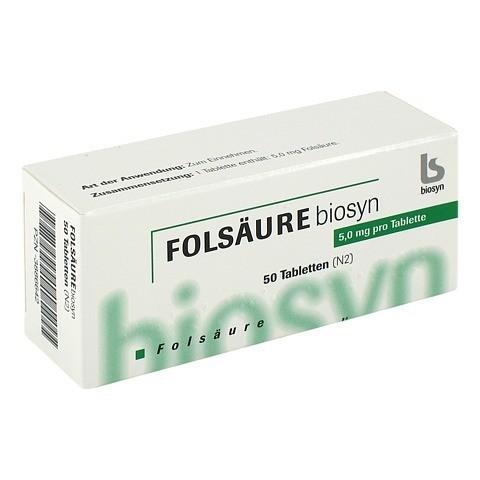 FOLSÄURE 5 mg Tabletten 50 Stück N2