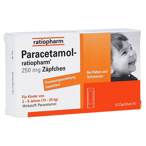 Paracetamol-ratiopharm 250mg 10 Stück N1