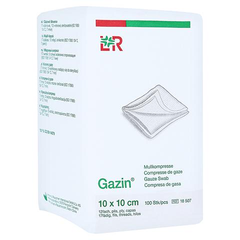 GAZIN Mullkomp.10x10 cm unsteril 12fach Op 100 Stück