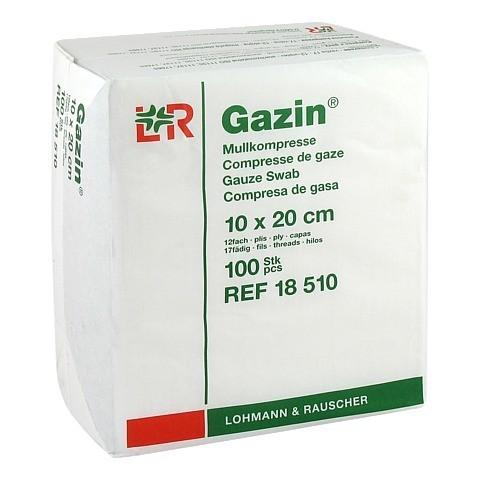 GAZIN Mullkomp.10x20 cm unsteril 12fach Op 100 Stück