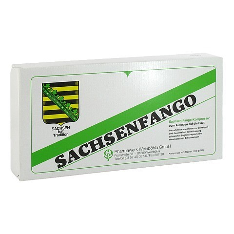 SACHSEN Fango-Kompresse 850 Gramm