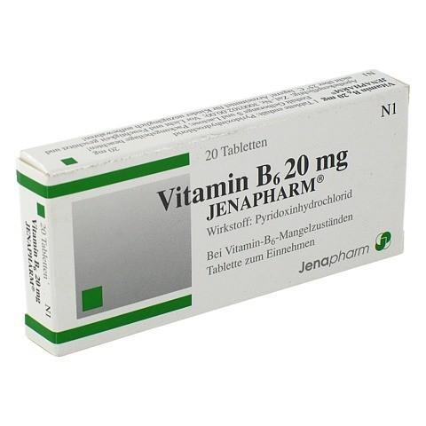 VITAMIN B6 20 mg Jenapharm Tabletten 20 Stück N1