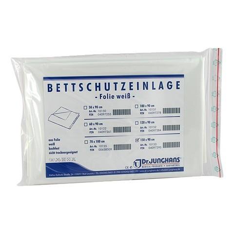 BETTSCHUTZEINLAGE Folie 90x150 cm weiß 1 Stück