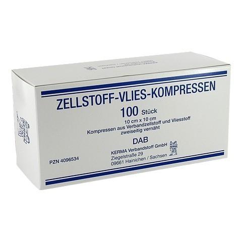 ZELLSTOFF VLIES KOMPRESSEN 10x10 cm unsteril 100 Stück