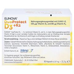 EUNOVA DuoProtect D3 + K2 - 2.000 I.E. 2x90 Stück - Rückseite