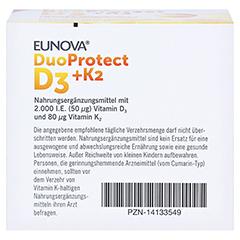EUNOVA DuoProtect D3 + K2 - 2.000 I.E. 2x90 Stück - Unterseite