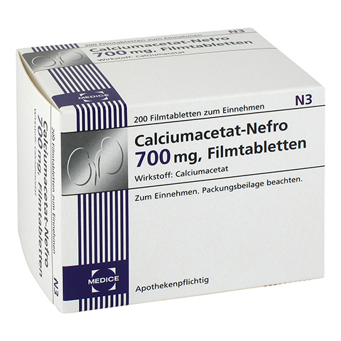 CALCIUMACETAT NEFRO 700 mg Filmtabletten 200 Stück N3