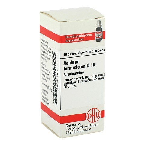 ACIDUM FORMICICUM D 10 Globuli 10 Gramm N1