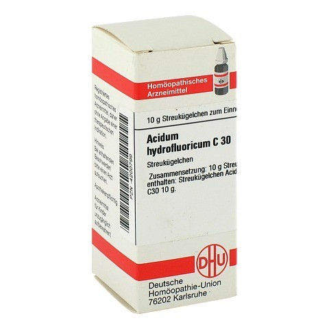 ACIDUM HYDROFLUORICUM C 30 Globuli 10 Gramm N1