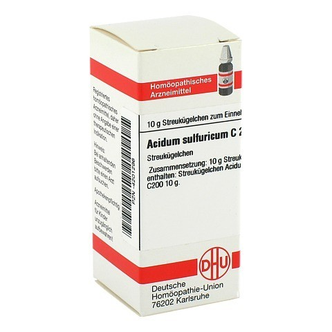 ACIDUM SULFURICUM C 200 Globuli 10 Gramm N1