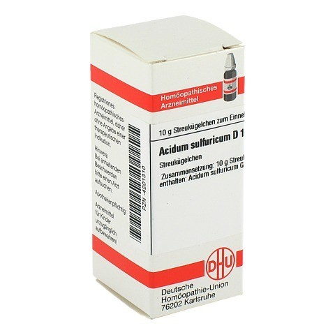 ACIDUM SULFURICUM D 12 Globuli 10 Gramm N1